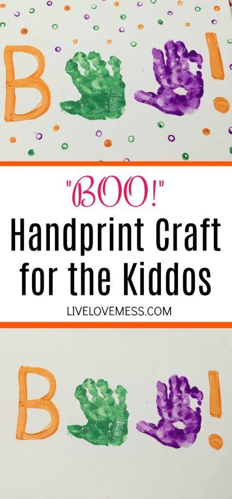 BOO! Handprint Craft for the Kiddos #octobercrafts