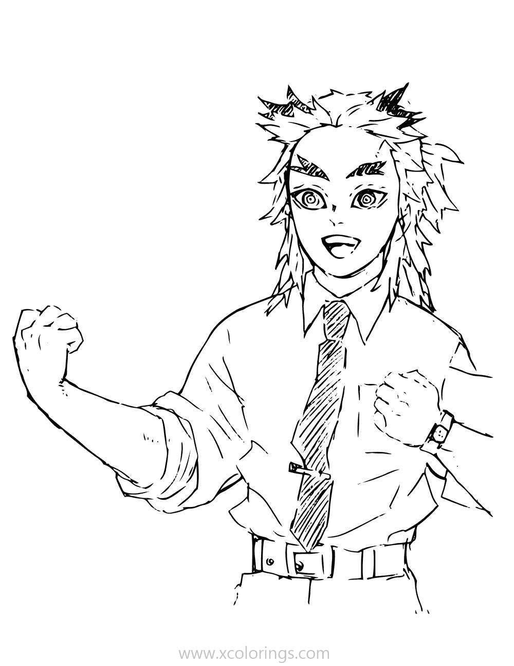 Demon Slayer Coloring Pages Kyojuro Rengoku Coloring Pages For Kids Slayer Demon