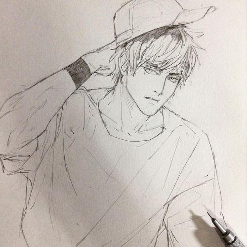 Artbyshinji Manga Drawing Anime Drawings Sketches Guy Drawing