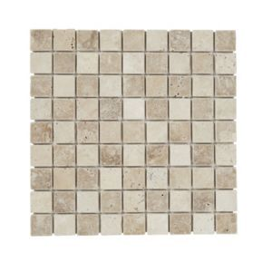 Padoue Beige Travertine Mosaic Tile L 300mm W 300mm With Images