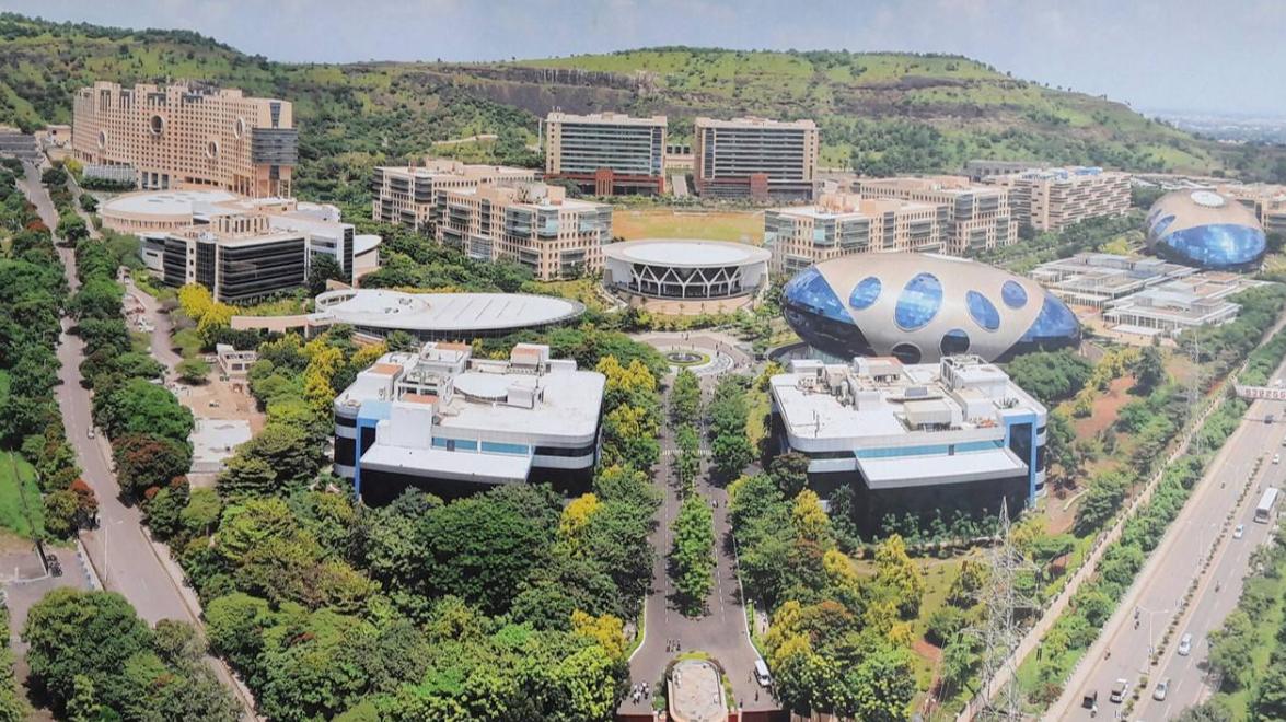 Infosys Pune Campus Aerial View Infosyspune Infosys