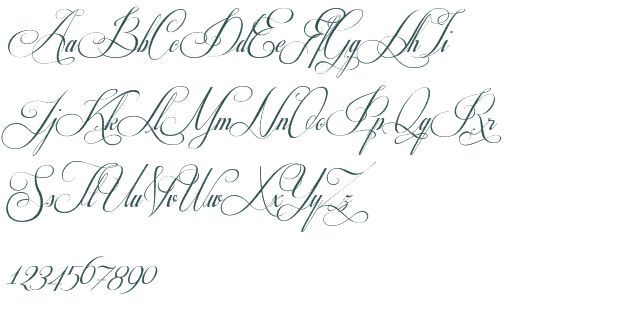 Fancy Cursive Fonts Alphabet For Tattoos Tattoo