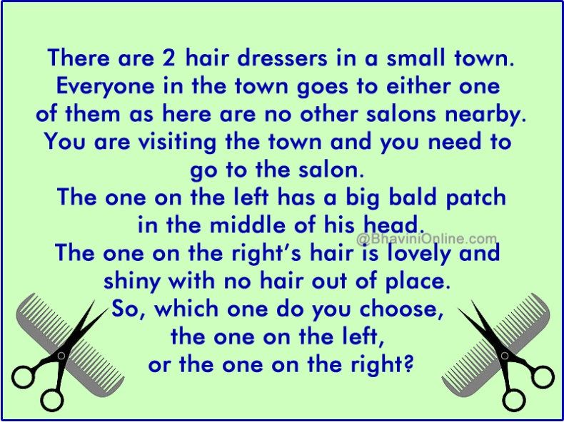 hairdressers in a town riddle Riddles Pinterest