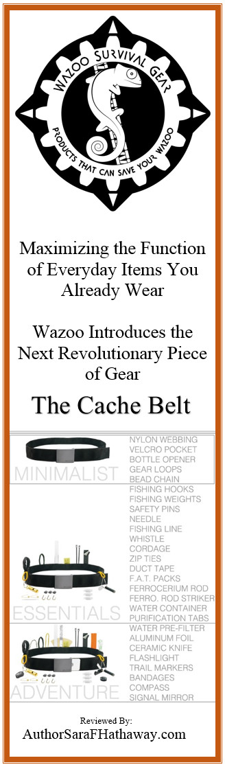 @WazooSurvival Gear introduces a revolutionary #survival belt. Perfect for your every day carry needs, The Cache Belt is awesome. Features a two foot long pocket that is easily accessible whether the belt is on or off.