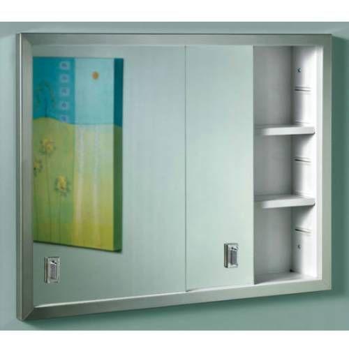 Sliding door medicine cabinet - Nutone B703850 Contempora, Sliding Door Recessed Cabinet