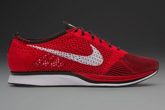 Nike Flyknit Racer  Unisex Running Shoes  University RedWhiteBlack