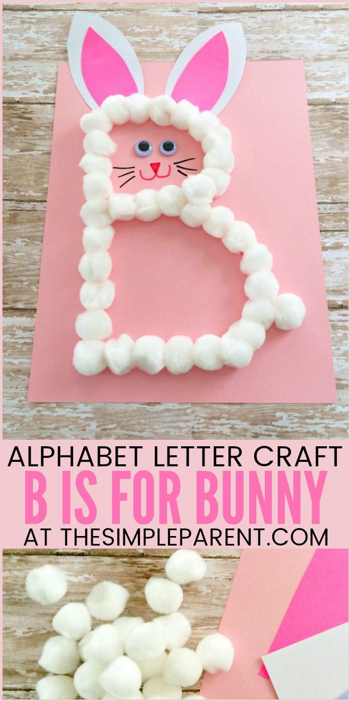 Preschool Letter B Craft: B is for Bunny (Great for Easter too!) • The Simple Parent
