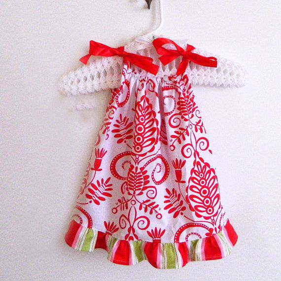 Pillowcase Dress - Red \u0026 White - made to order 3 6 9 12 months newborn & Pillowcase Dress - Red \u0026 White - made to order 3 6 9 12 months ... pillowsntoast.com