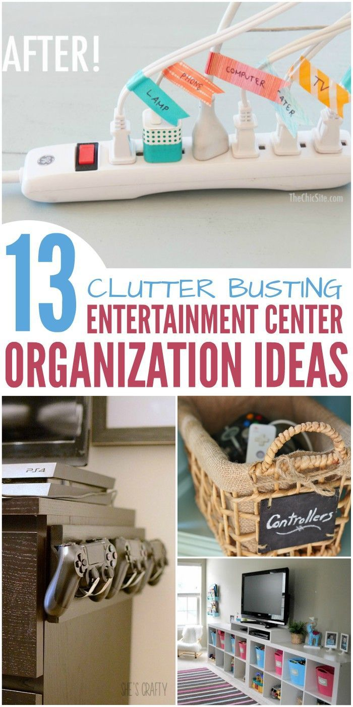 13 Clutter-Busting Entertainment Center Organization Ideas