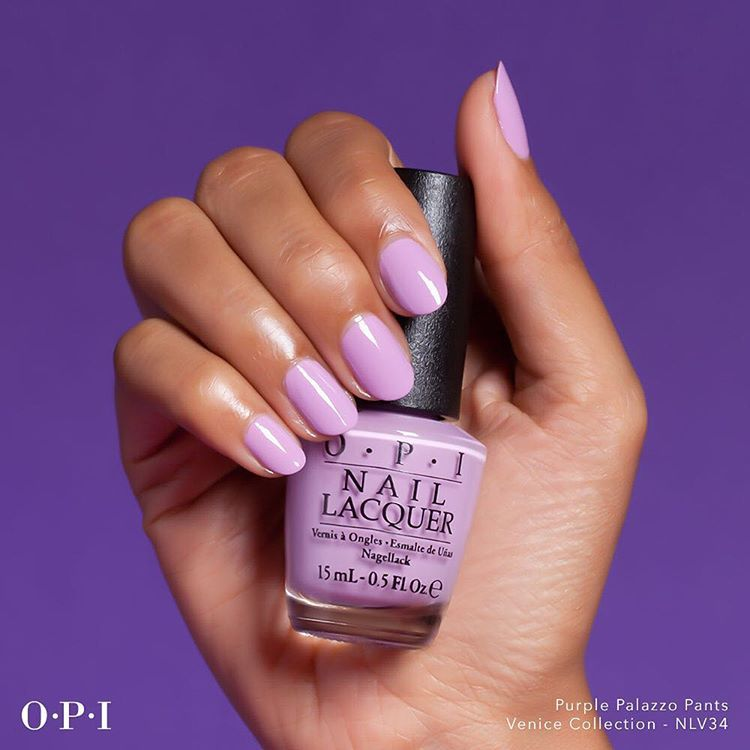 """Anyone looking for a fun #Friyay color? Try #PurplePalazzoPants for the #weekend!"""
