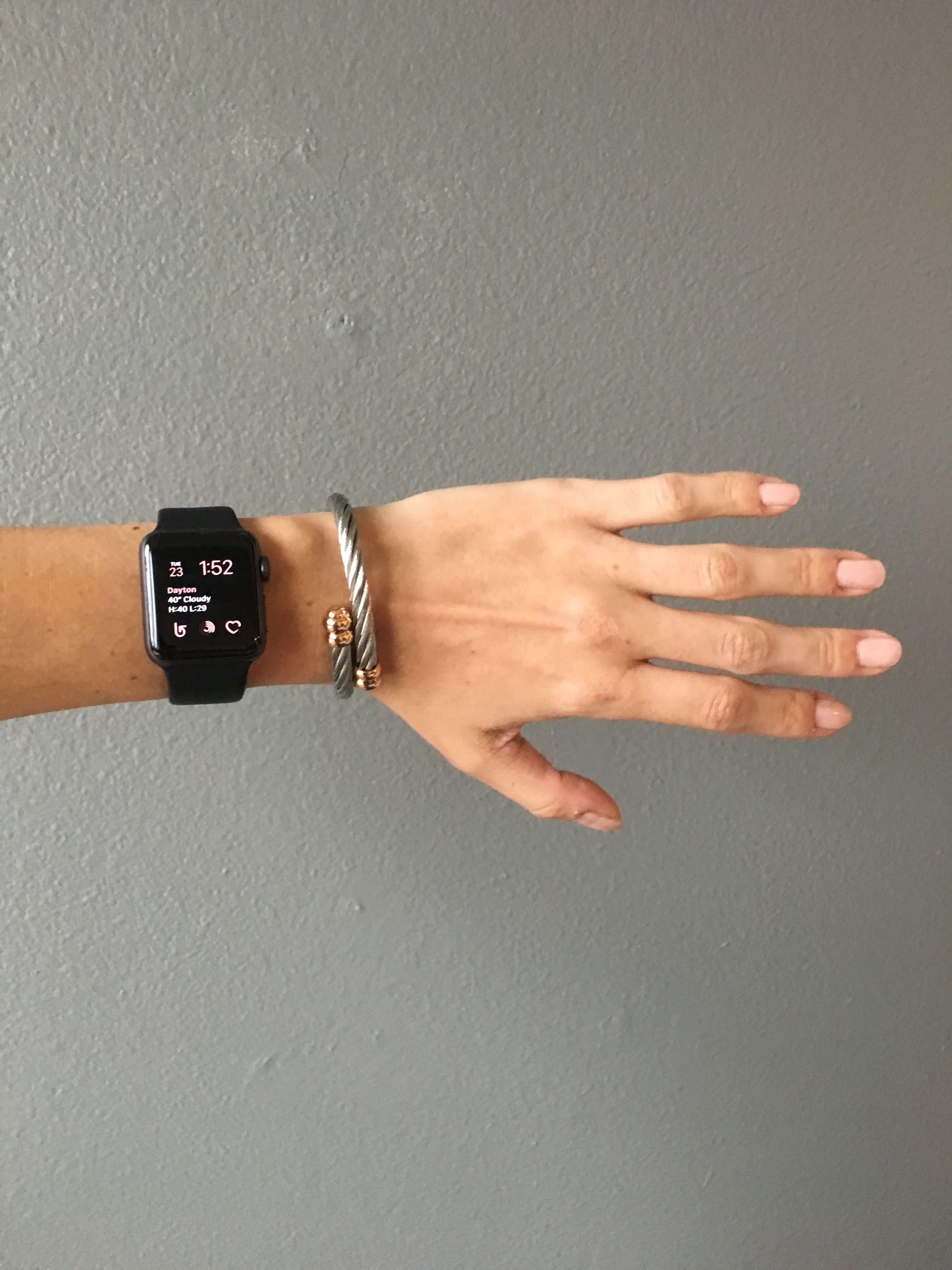Apple Watch Black Stainless Millennial Pink Opi Nails