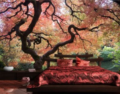 fototapete wald japanischer garten selbstklebende 270cm x 144cm fototapete wald. Black Bedroom Furniture Sets. Home Design Ideas