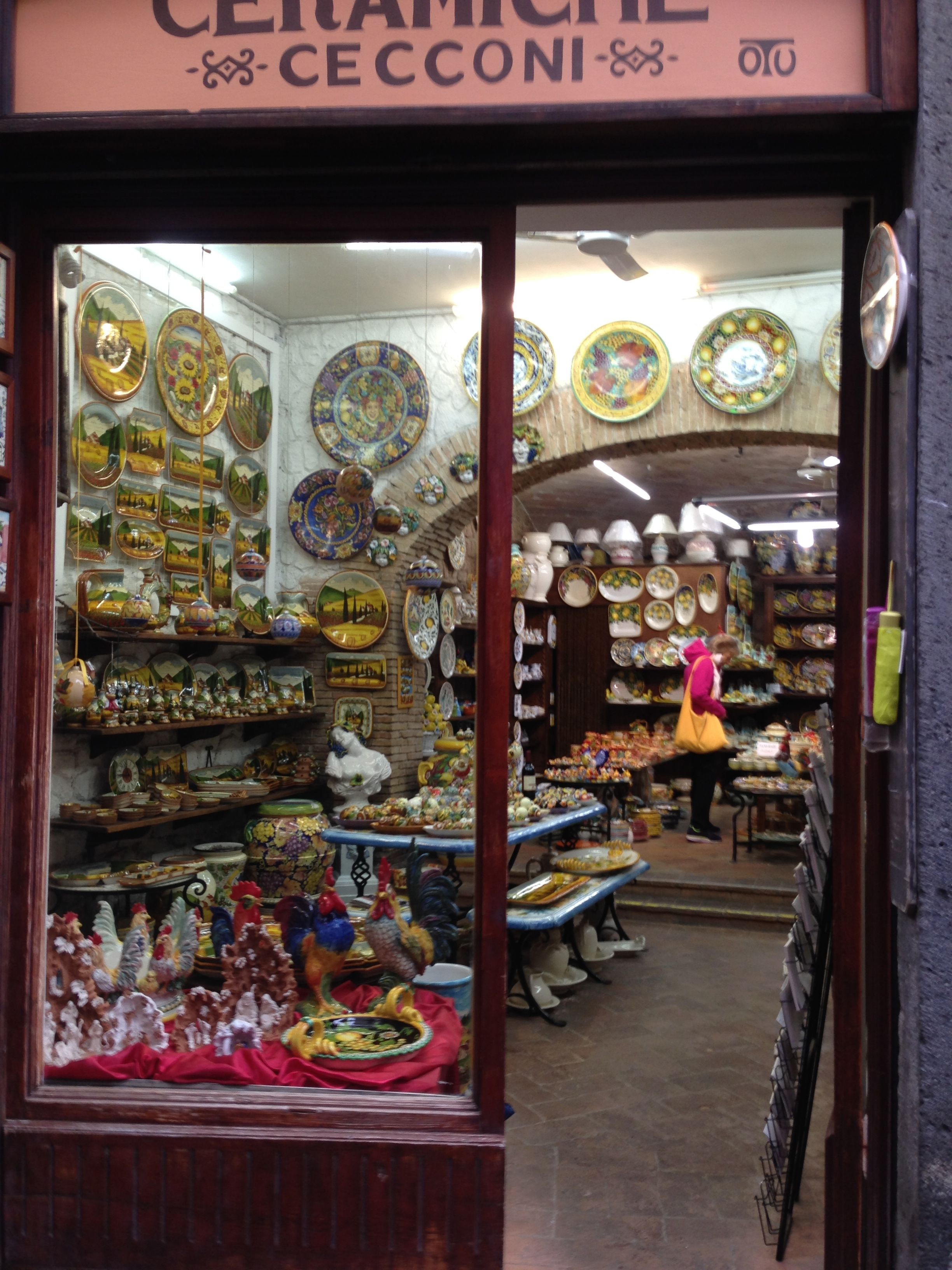 Store in orvieto Italy, Fair grounds, Carousel