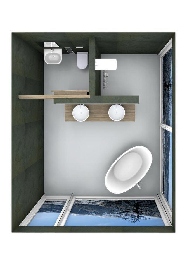 Grundriss Badezimmer Qm  Wohndesign