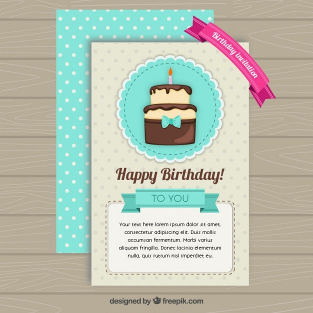 Pin by Naomy Geta on Tarjetas de cumpleaños Pinterest Birthday - birthday card template