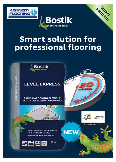 Bostik Level Express offers a quick drying screed ready to work on