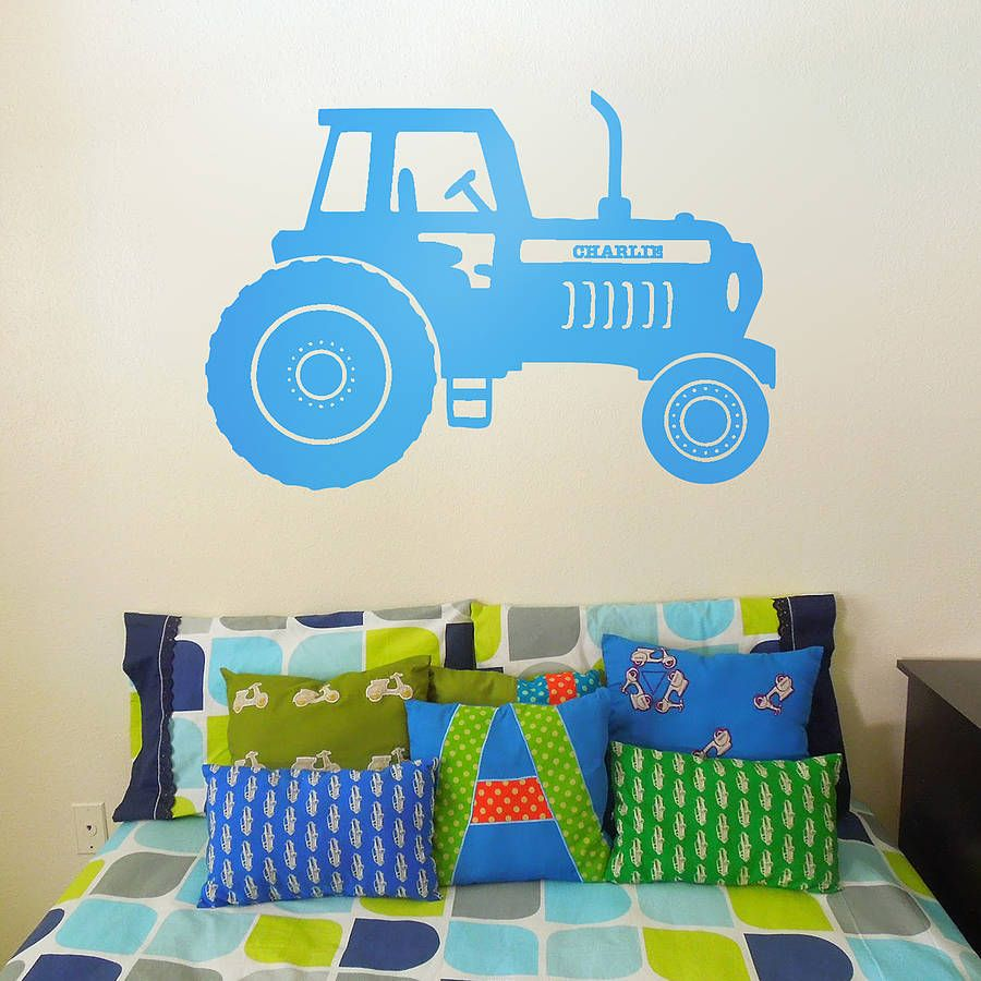 Personalised tractor vinyl wall sticker vinyl wall stickers personalised tractor vinyl wall sticker amipublicfo Choice Image