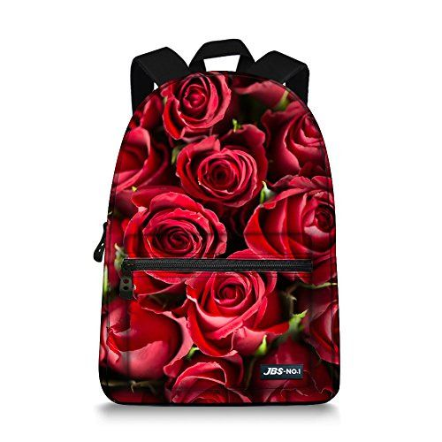 JBS-NO. 1 Rose Backpack for Teen Girls School Canvas Bags ... 96955b2592bf2
