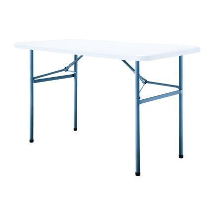 Living Accents 4 White Rectangle Folding Table Folding Tables Chairs Ace Hardware With Images Folding Table