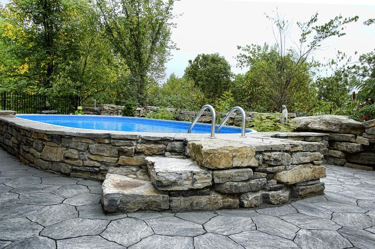 Permanent Above Ground Pool Great Idea For The Disabled Allows For Transitional Ease From