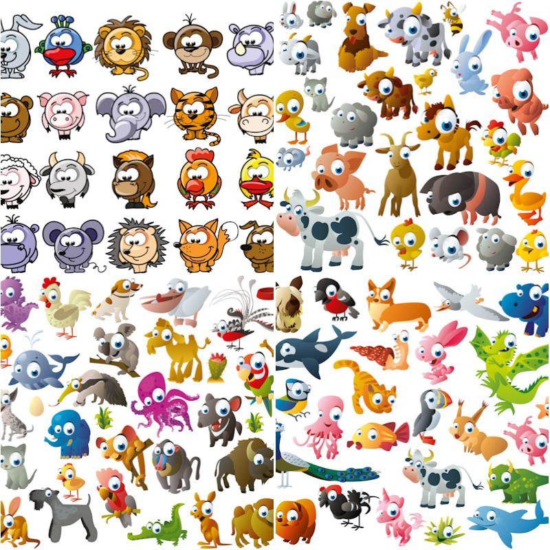 10+ Free Funny Cartoon Animal Clipart