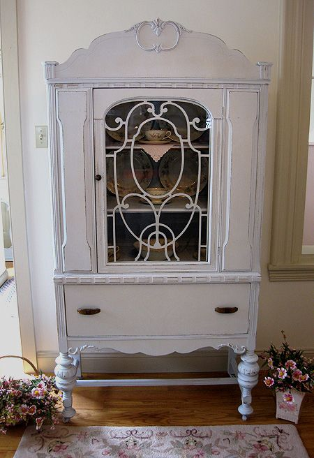 Antique China Cabinets | Antique Blue China Cabinet | Antiques | Pinterest  | Crockery cabinet, Painted china cabinets and