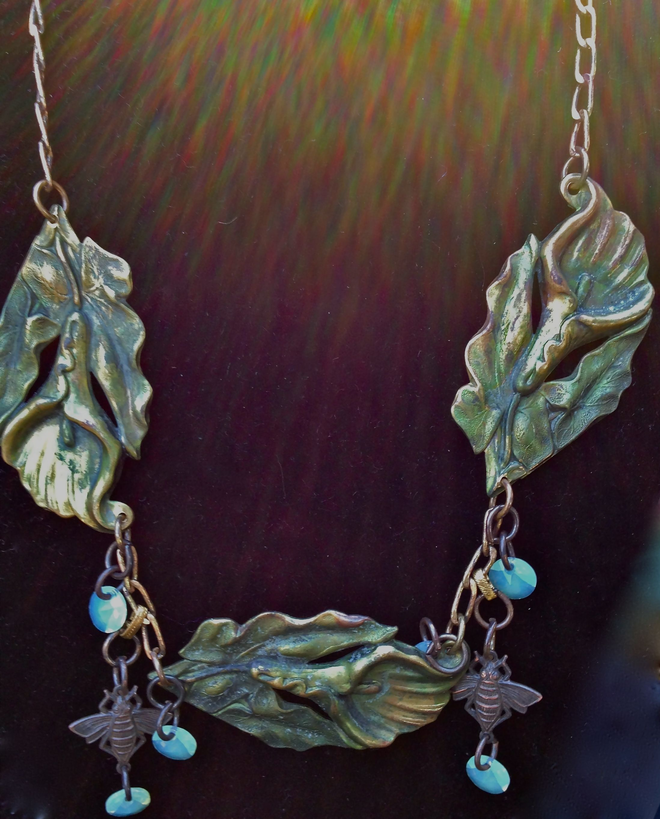 Brass stampings with crystals
