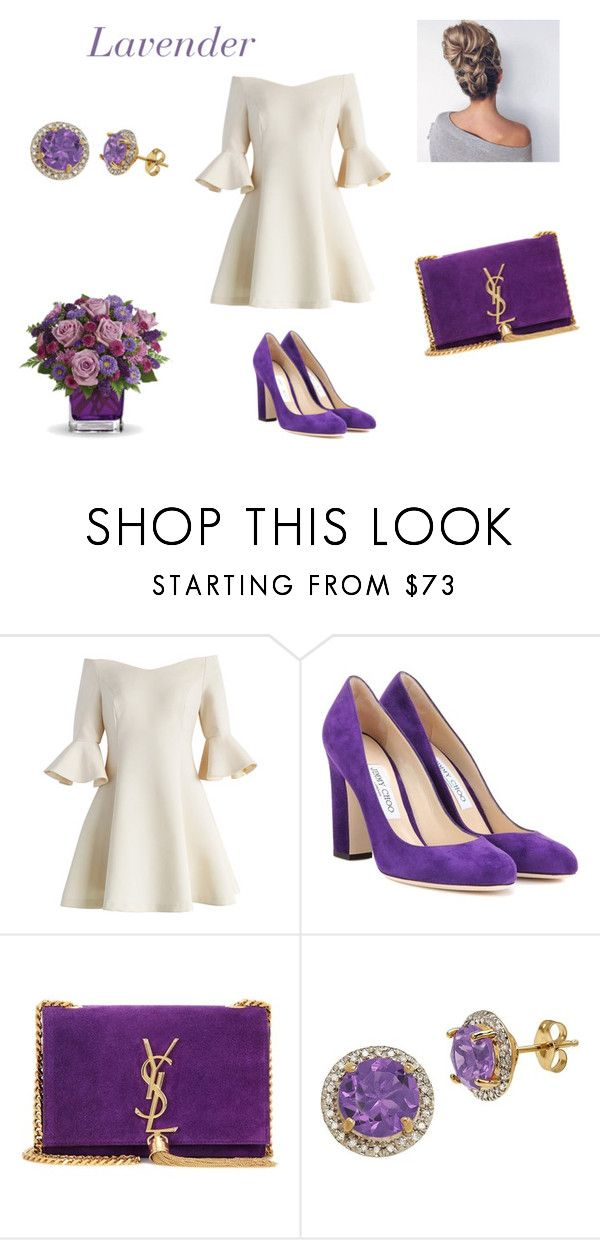 Lavender by marinafrancesca on Polyvore featuring Mode, Chicwish, Jimmy Choo, Yves Saint Laurent and Lord & Taylor
