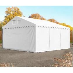 Photo of Lagerzelt 6x6m Pvc 550 g/m² weiß wasserdicht Professional Unterstand, Lager Toolport