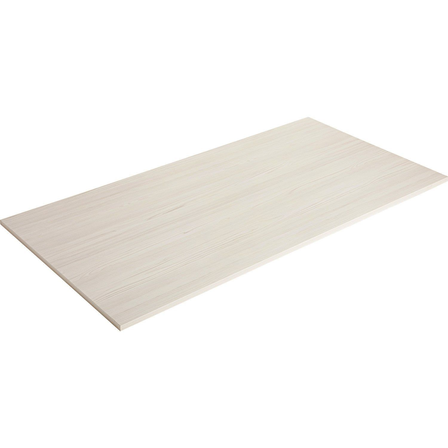 Plateau De Table Agglomere Pin Blanchi Spaceo L 160 X L 80 Cm X Ep 22 Mm Plateau De Table Plateau Table