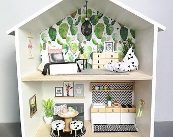 Handmade Doll House Furniture Miniatura Diy Doll Houses FREE shipping!!!Miniature Dollhouse W...