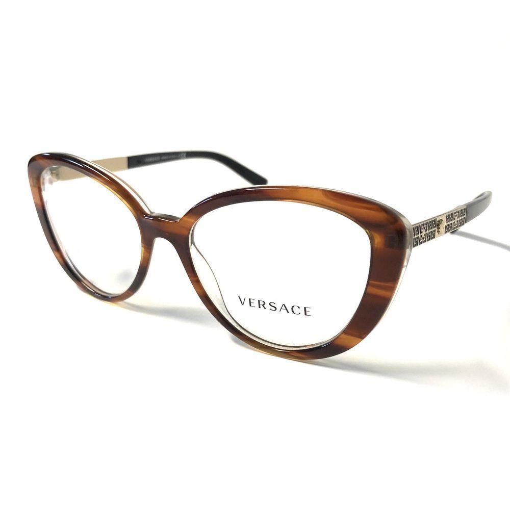 c7722289db142 Versace Eyeglasses 3229 Tortoise col.5191 Authentic Optical Frame 52mm