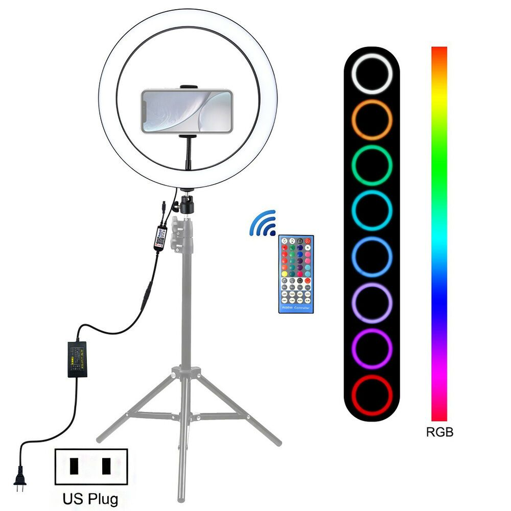 Details About 12 Selfie Desktop Led Ring Light With Stand Phone Holder For Live Vedio Makeup Selfie Ring Light Led Ring Light Led Selfie Ring Light