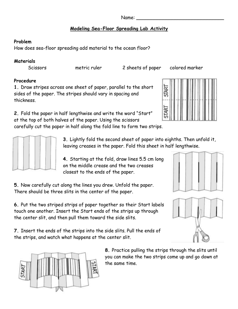 Best Of Sea Floor Spreading Lab Worksheet Answers And Review Seafloor Spreading Sea Floor Flooring [ 1024 x 791 Pixel ]