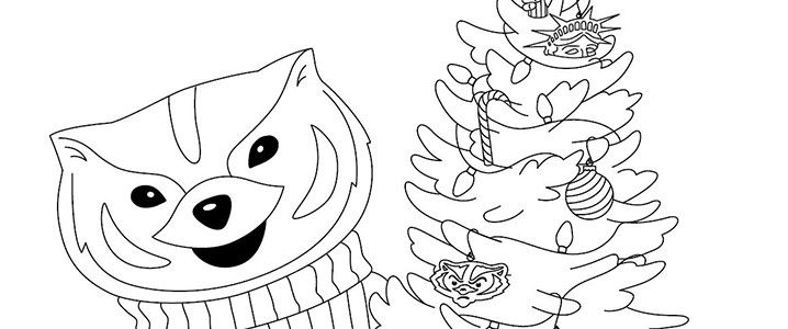 Waa Bucky Badger Holiday Coloring Page Bucky Badger Bucky