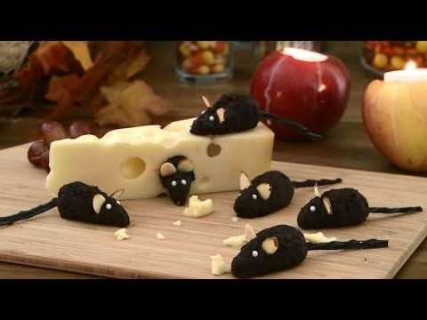 Fantastic Halloween recipe for chocolate mice. Really easy to make and look really cute and furry!