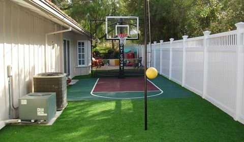 Sport Court Of Southern California Basketball Court Backyard Backyard Court Backyard Basketball