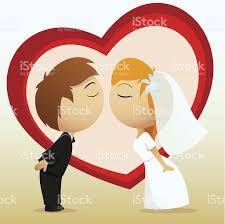 Resultado de imagen de dibujo animado novios boda