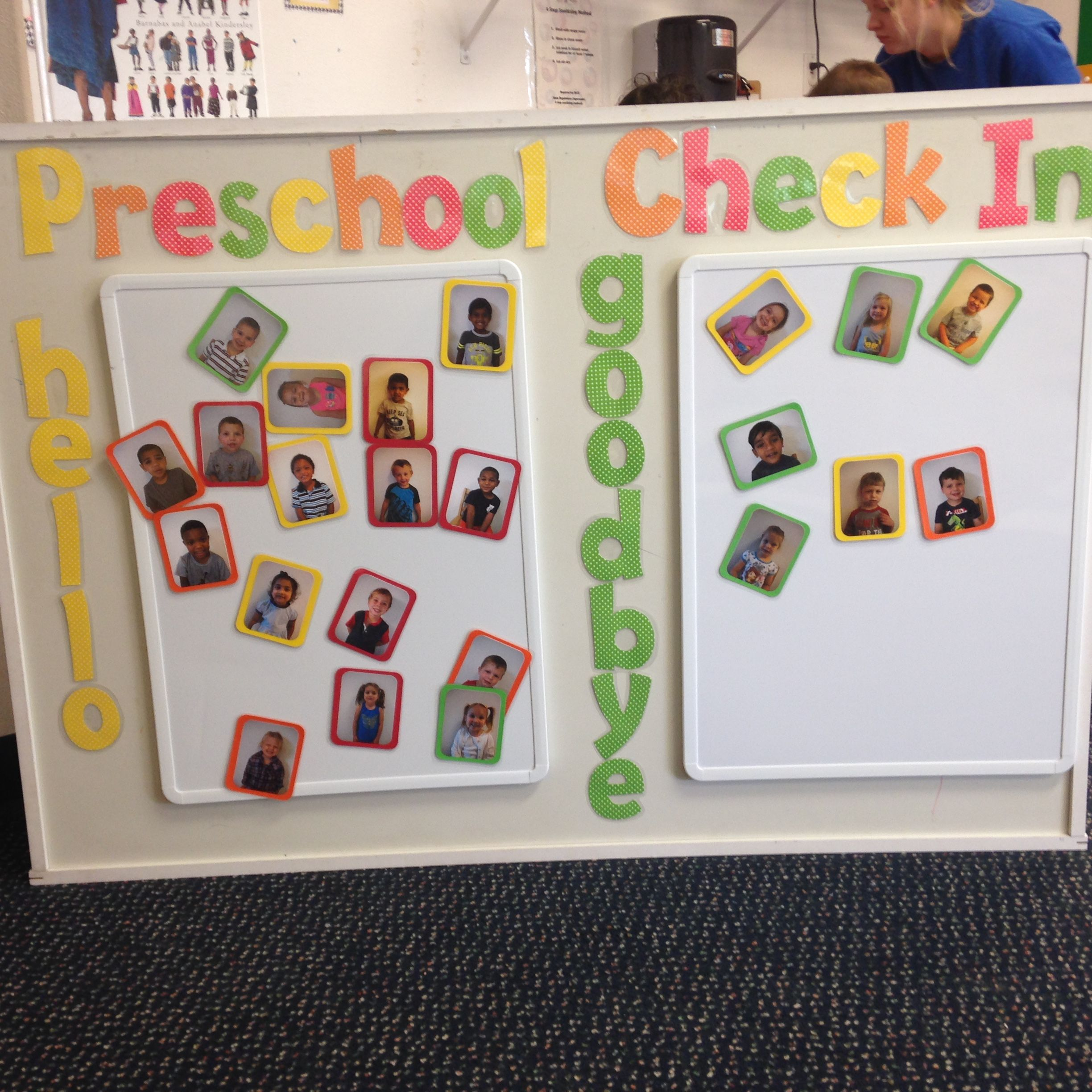 Classroom Board Ideas For Kindergarten ~ Take a look at this preschool classrooms quot sign in and
