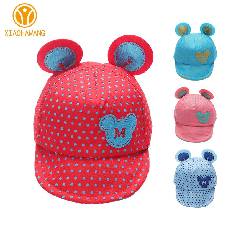 3f7e0a519f2 Cheap Puntos Casquillo Del Bebé Del Ratón de Algodón Niñas niños Cap M gorra  de Béisbol