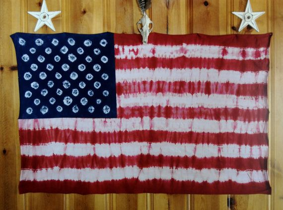 American Flag Free Shipping Tie Dyed Wall Tapestry Handmade Etsy Tie Dye Wall Handmade American Flag Cotton Throw Blanket