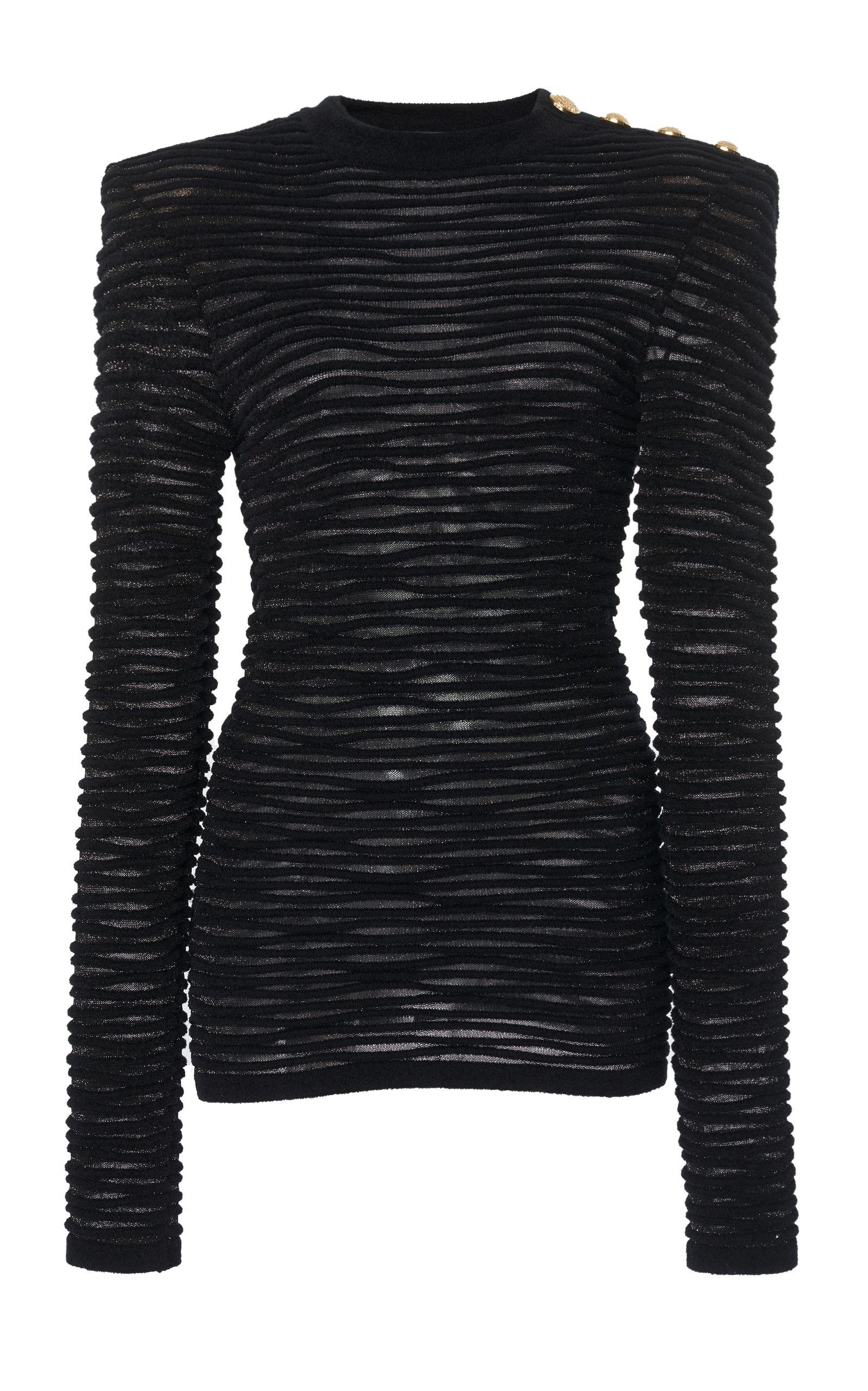 Ribbed Velour Top by Balmain | Moda Operandi | Velour tops