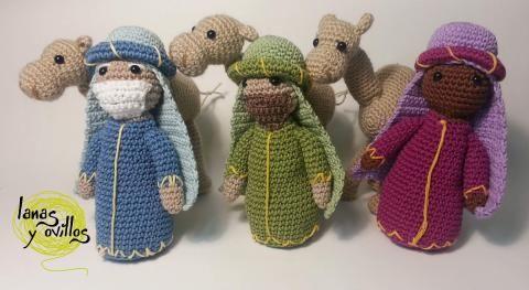 Amigurumi Navidad Nacimiento : Reyes magos y camellos amigurumi patron gratis crochet navidad