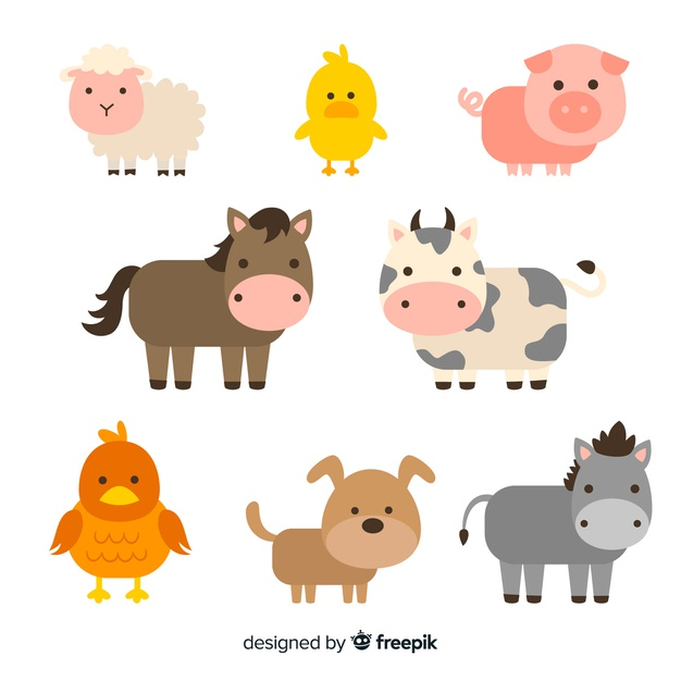 Download Flat Farm Animal Collection for free Farm
