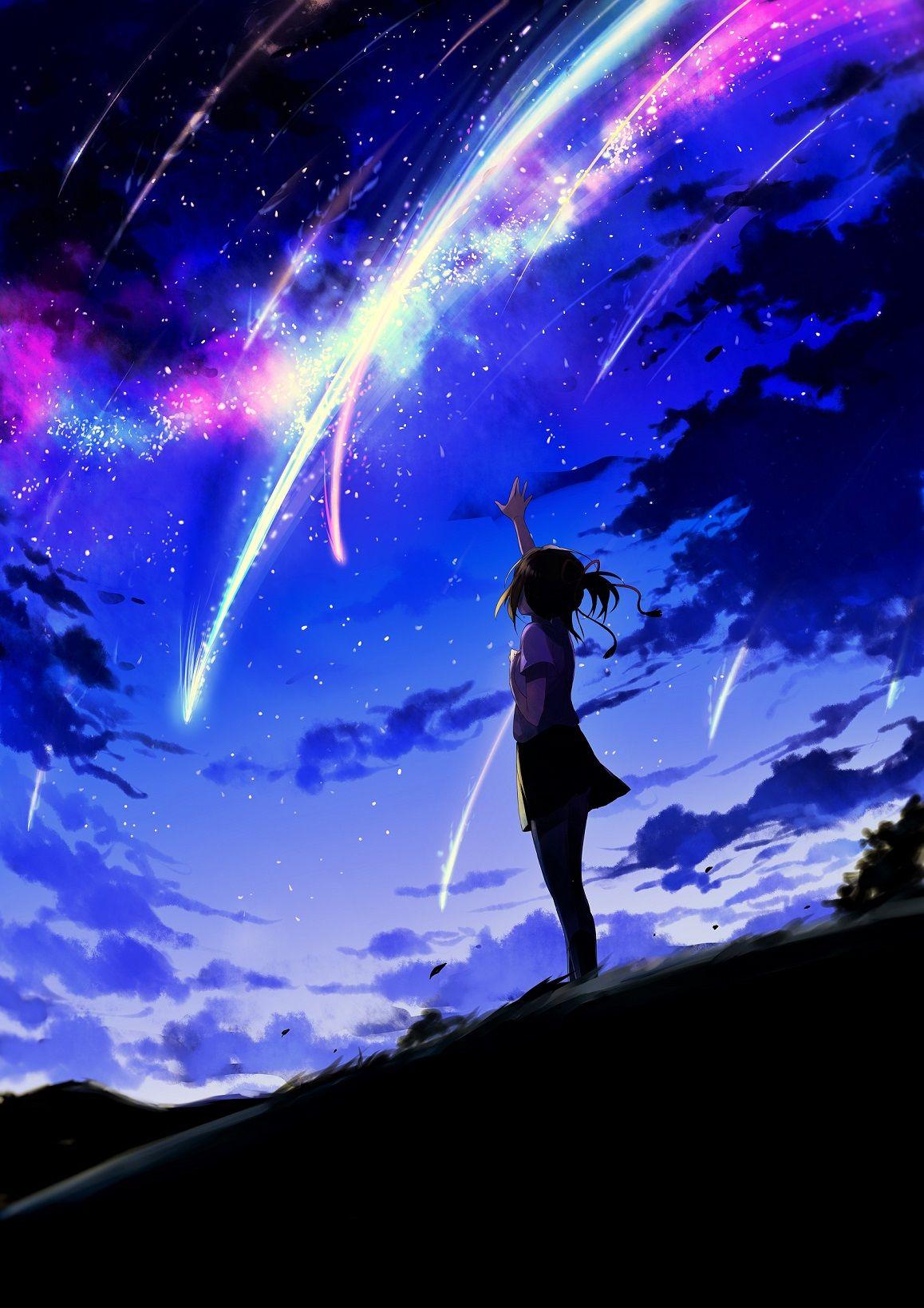 58731987_p0.jpg Phong cảnh, Anime, Thiên hà