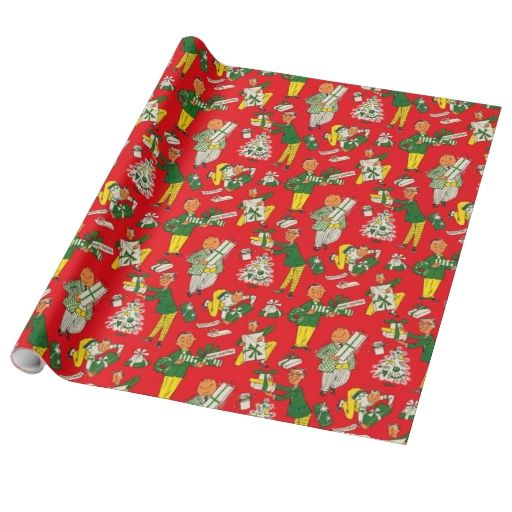 1950s Vintage Christmas Gift Wrap Christmas Wrapping Paper