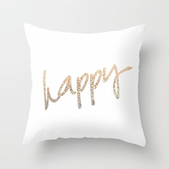 Throw Pillow Made From 100 Spun Polyester Poplin Fabric A Stylish Statement That Will Liven Up Any Room Individual Happy Throw Pillows Pillows Throw Pillows