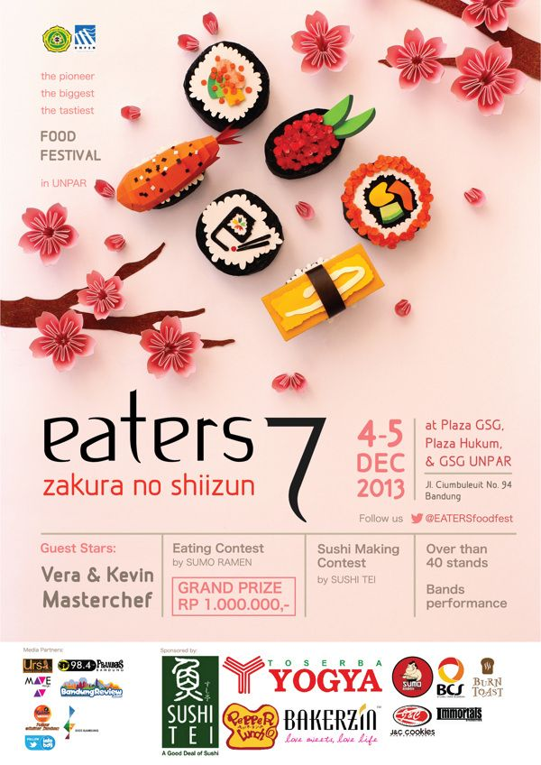 "Ira Carella Wijaya – ""Eaters"" - A food festival that routinely held every year in Universitas Katolik Parahyangan, Bandung, Indonesia"