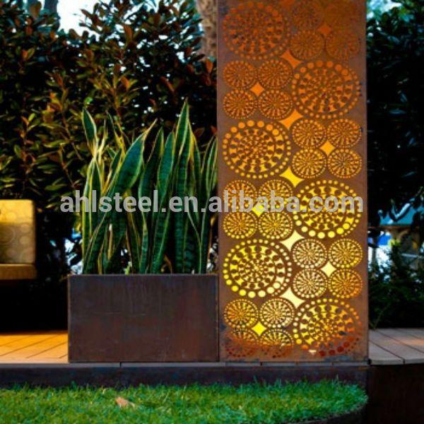 Corten A Steel Laser Cut Garden Screen Buy A242 Corten