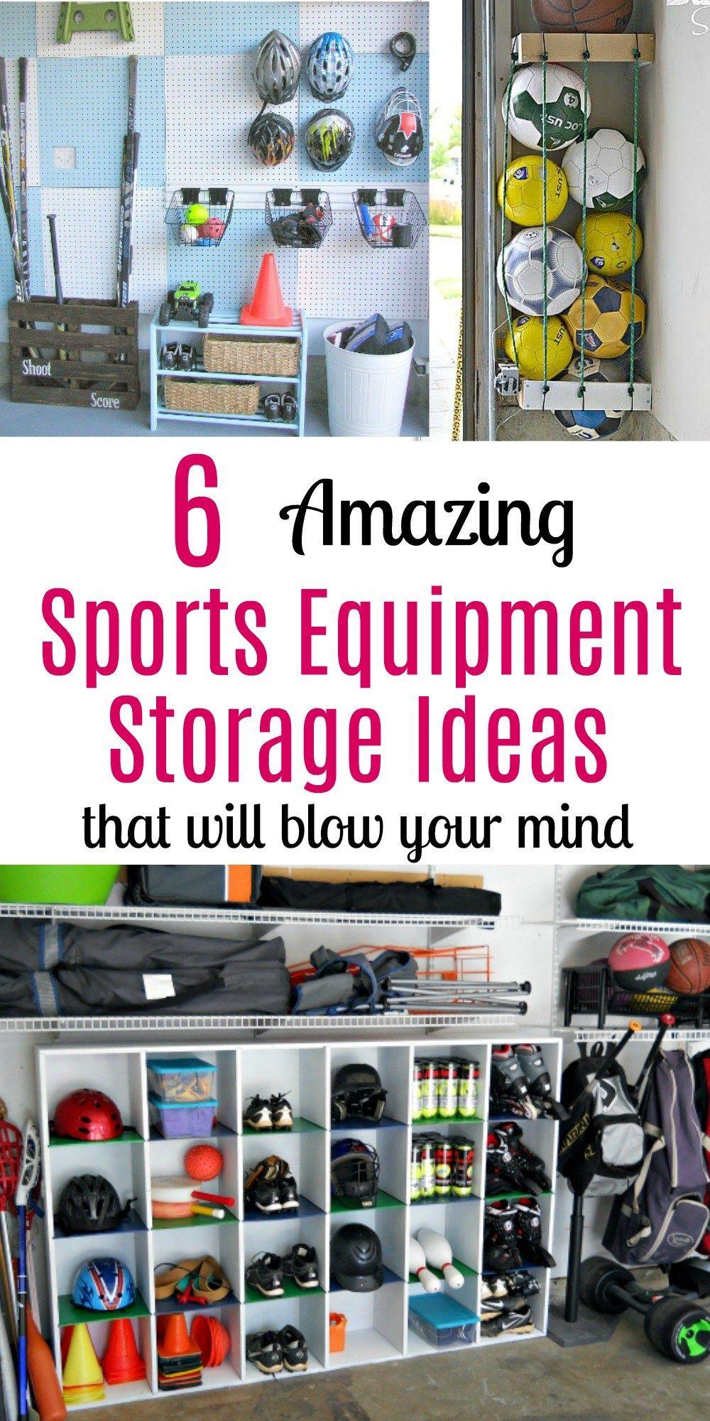 6 Amazing Sports Equipment Storage Ideas That Will Blow Your Mind Sports Equipment Storage Gym Equipment Storage Sports Equipment Organization